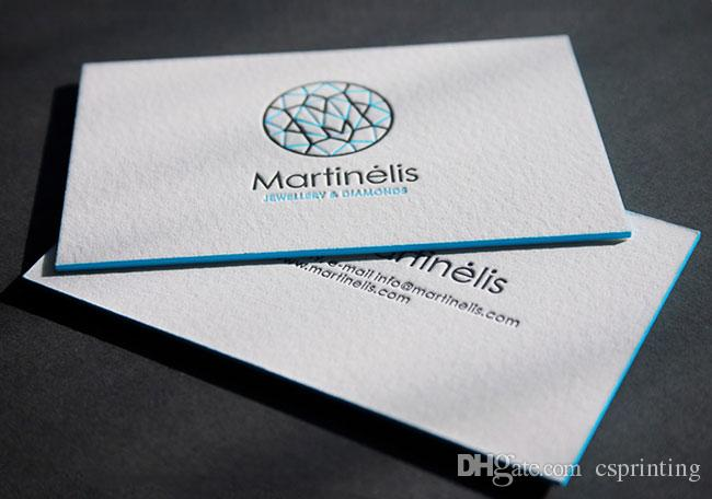 custom letterpress business cards duplexed 600gsm cotton paper printing edge colour paint letterpress business cards cotton paper printing cotton paper - Letterpress Business Cards