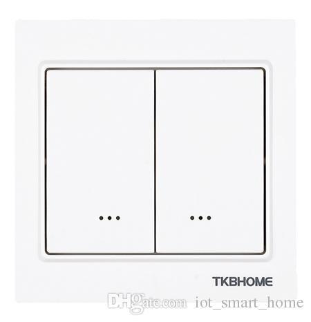 TKB Gen5 Nuevo interruptor de pared de relé dual Z-Wave para 2 cargas separadas de control remoto a través de un teléfono inteligente