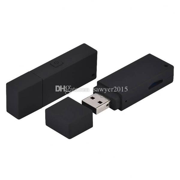 No hole USB disk Mini DV DVR HD 1080P U-disk Style micro camera Portable USB Flash Drive pinhole Camcorder support TF card