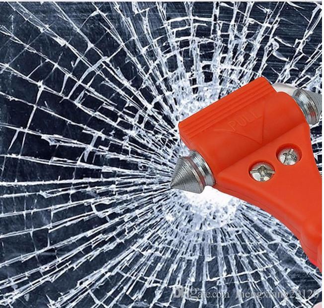 Открытый выживания портативный молоток безопасности кемпинг вождение автомобиля ремень резак аварийного побег молоток, чтобы разбить стекло 1 шт.