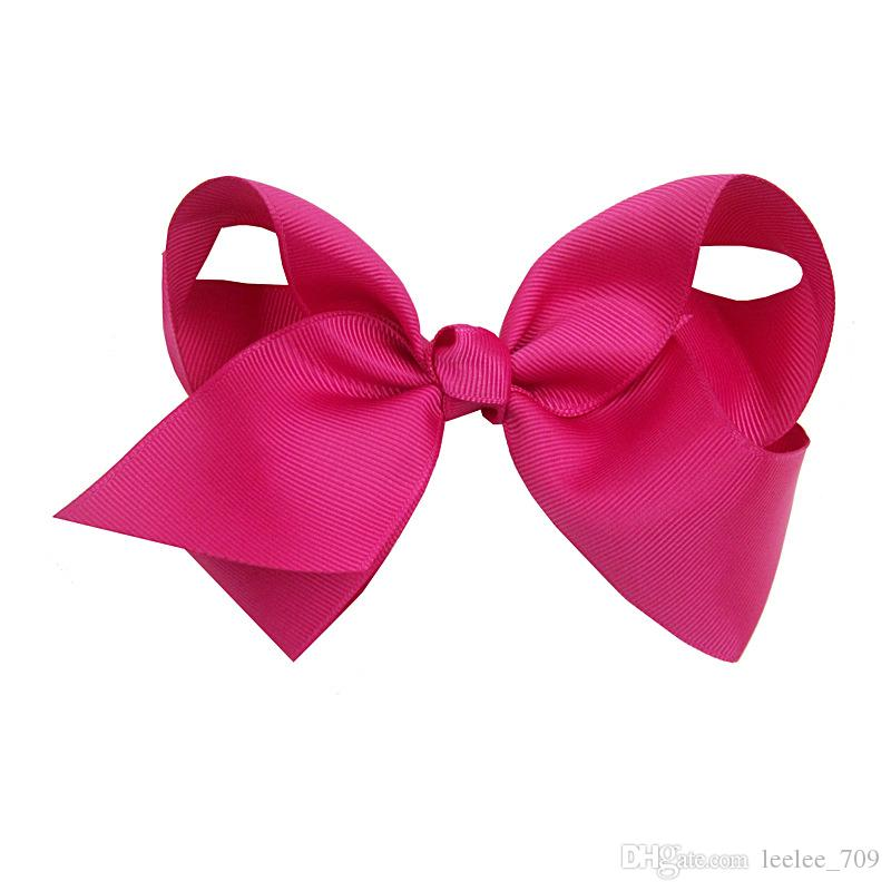 6 Inch Mix Colors Hair bows for Children Trendy Bow Jojo Bows With Clip For School Baby Children 24 Style For valentines