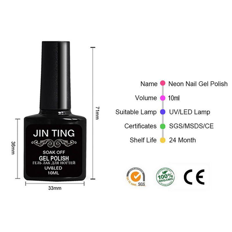 Nail Art Manicure Tool 24W Led Lampada + i 10ml uv Led Gel top coat polacco con punta francese Remover Practice set