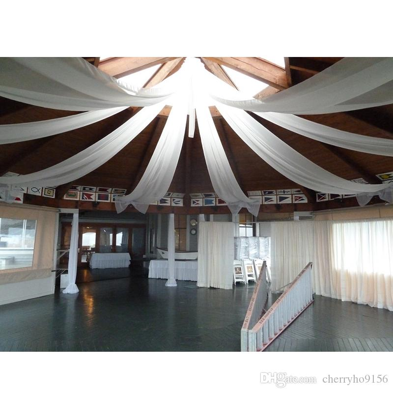 2ftx32ft Flat White Wedding Ceiling Drapery Party Decor Wedding Ceiling  Canopy Decorations Idea Event Hotel Decoration Wedding Decoration Hire  Wedding ...