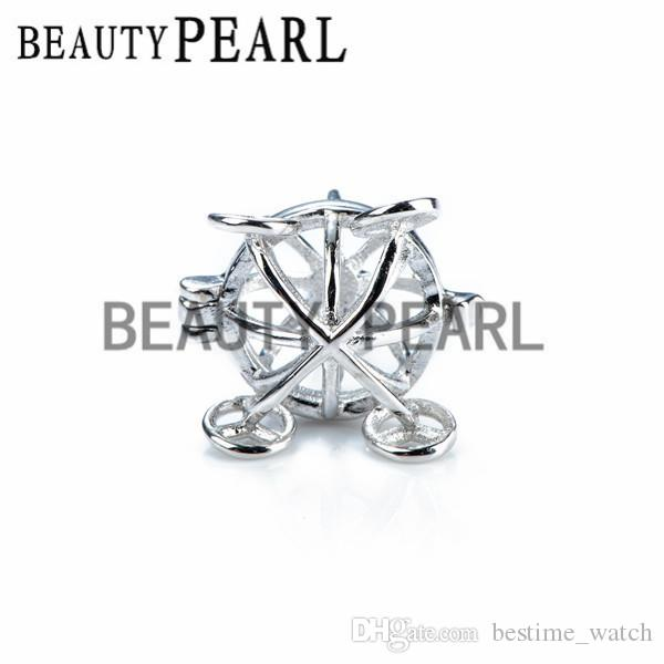 Bulk of Halloween Gift Pumpkin Carriage Pendant 925 Sterling Silver Jewellery Pearl Cages Locket