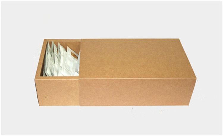 18*10*6cm Large brown kraft drawer boxes, plain brown kraft gift packaging cardboard boxes