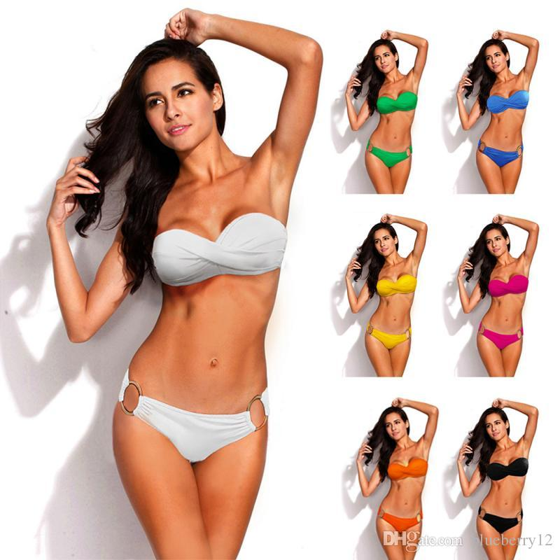 Nuevo Hot Push Up Bikini Biquini brasileño Trajes de baño Traje de baño Sexy Bikinis Conjunto Traje de baño Traje de baño traje de baño
