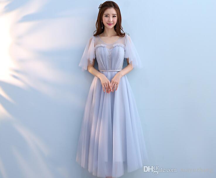 The Bridesmaid Dresses The Long Wedding Sisters\' Grey Bridesmaid ...