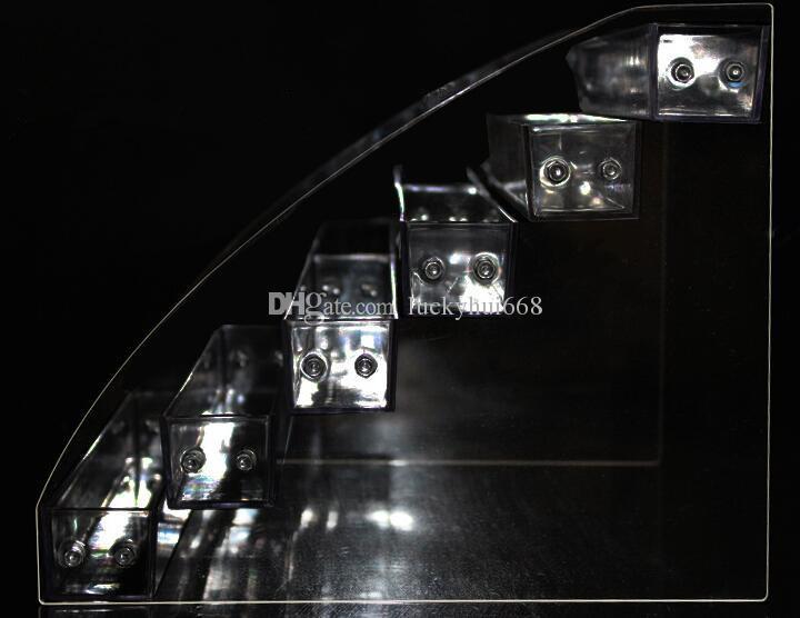 4 Яруса Многофункциональный Макияж Косметический Дисплей Стенд Прозрачный Акриловый Организатор Mac Помада Ювелирные Изделия Дисплей Держатель Помада Лак Для Ногтей Стойку