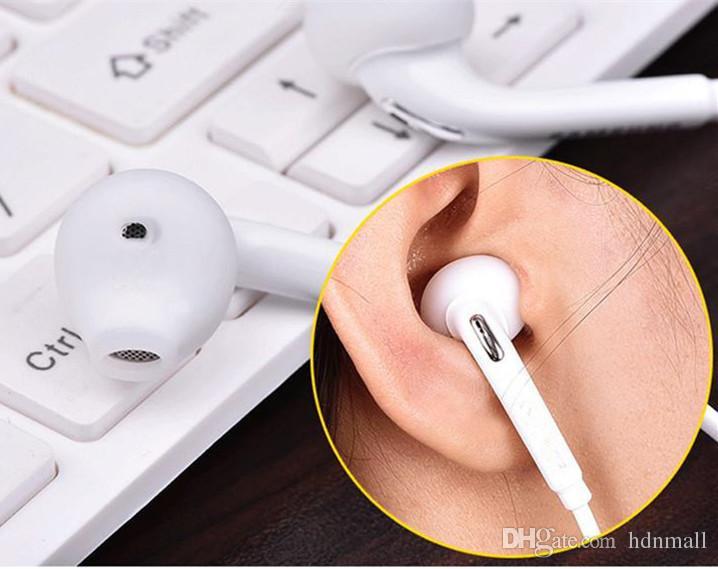 Weiß kopfhörer 3,5 mm kopfhörer mit mikrofon bass ohrhörer in-ohr kopfhörer für samsung galaxy eg920 s6 s7 s8 s10
