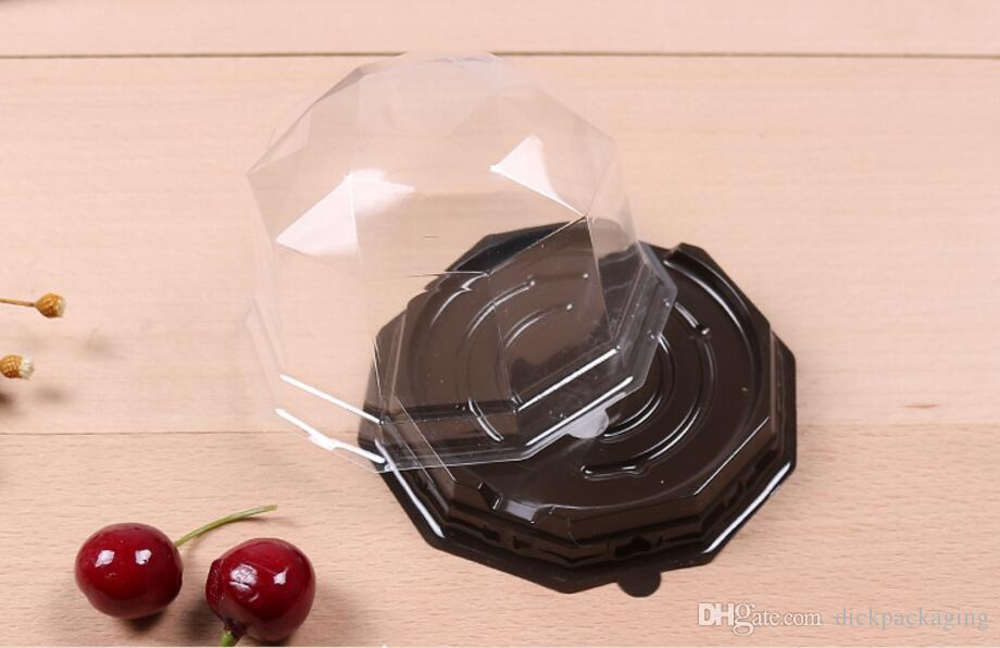 Free shipment plastic cake packing box clear Disposable cake box plastic cupcake boxes packaging for wholesale