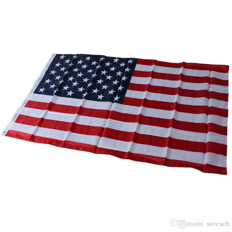 87*148cm Polyester USA American National Flag - US United States Stars Stripes Country Flags Banner For Home Decor Activity Parade