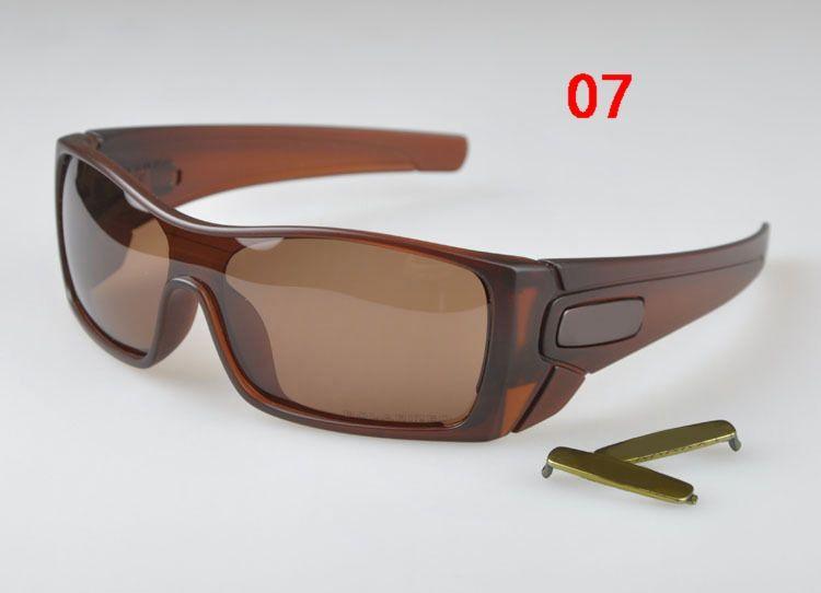 Venta caliente, Marca Gafas de sol, marco marrón negro mate / Lente polarizada Gafas de sol auténticas de los hombres Gafas populares DEPORTE AL AIRE LIBRE Samuel es