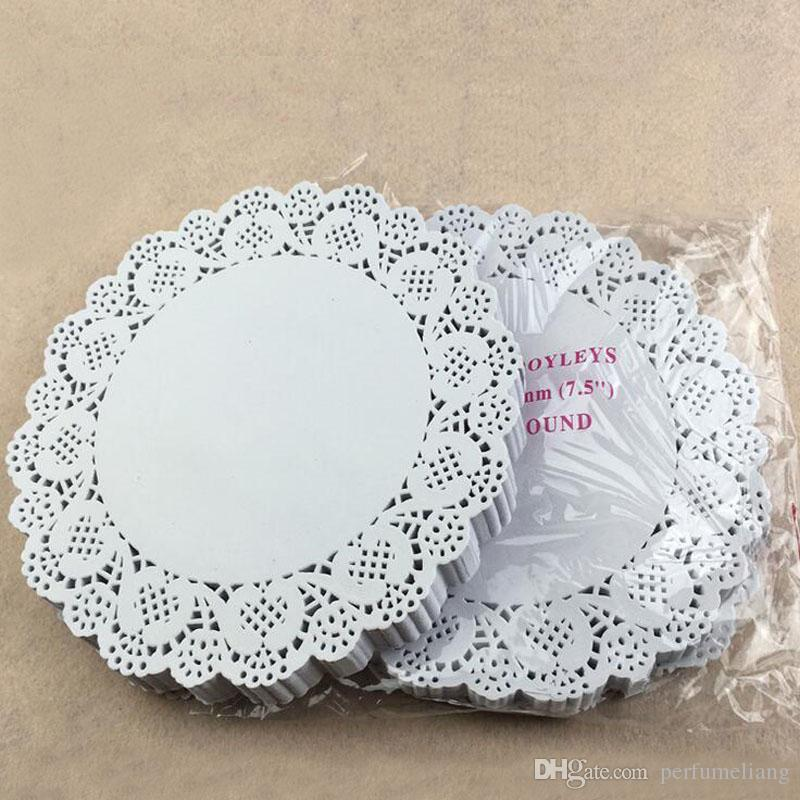 7.5 inch Cake Paper Doyleys Placemat Oil-absorbing Sheet Paper Doily Bakery Package Decoration Party Supplies ZA3829