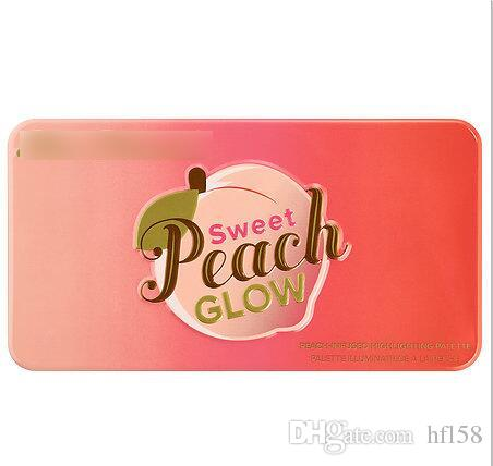 free shipping hot selling brand makeup top quality peach-infused highlighting palette 3 colors eyeshadow palette