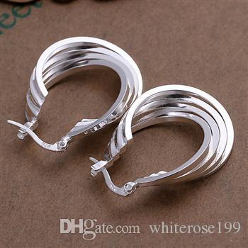 Hurtownie - najniższa cena Christmas Gift 925 Sterling Silver Moda Kolczyki E157