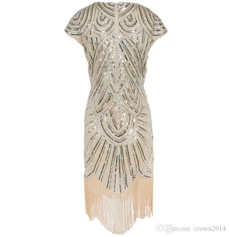 2017 Золото чай длина коктейльные платья вечерние короткое с короткими рукавами с кистями в полосы Шику вечерние макси платья вечерние платья