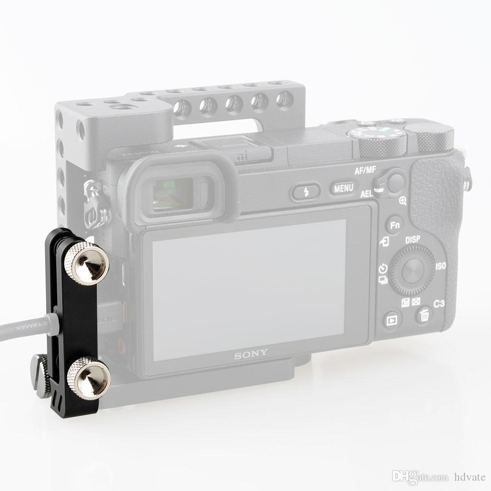 CAMVATE HDMI lock cable clamp adapter protector for Sony A6500 Camera video cage Black