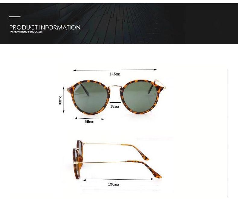 To Choose Classic Round Sunglasses Men Women Brand Designer Eyewear Glasses Mirrored Sun glasses uv400 Goggle with cases and box