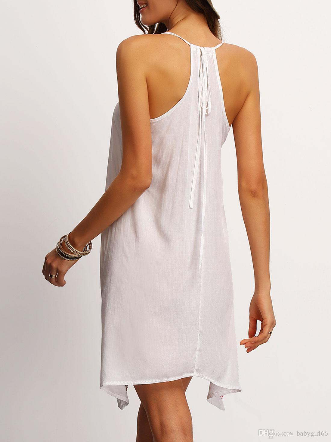 новая мода летнее платье спагетти ремень черное короткое сексуальное платье