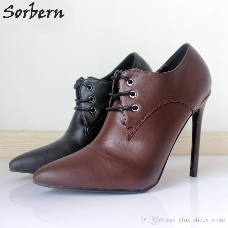 Mature Matte PU Dress Shoes 12CM High Heels Stilettos Plus Size 36 46 Shoes  Women Pumps Designer Heels 2018 Custom Colors Real Image Stacy Adams Shoes  ... f1c43a968966