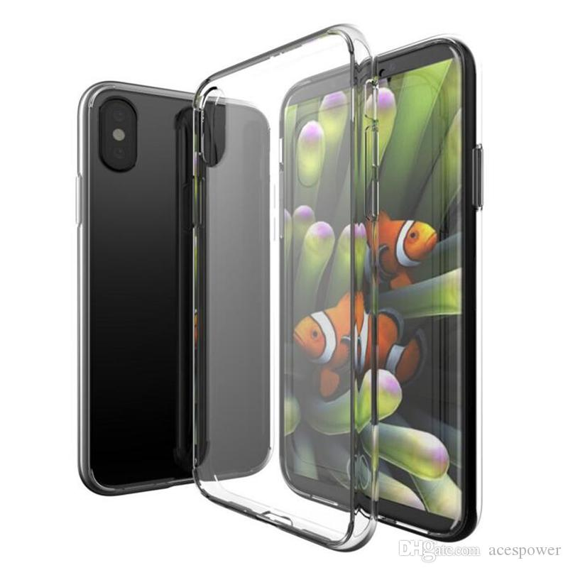 For Iphone 11 Pro XR XS MAX Case Soft Clear Cover 1.0mm TPU Silicon Gel For Samsung Galaxy S10 Note 10 PLus