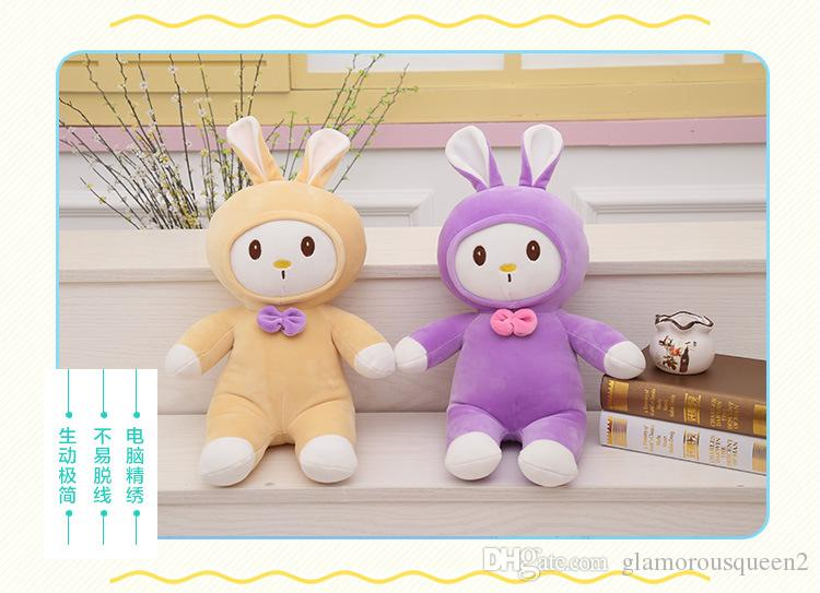 Kawaii Plush Stuffed Animal Cartoon Kids Toys for Girls Children Baby Birthday Christmas Gift Angela Rabbit Girl Metoo Doll