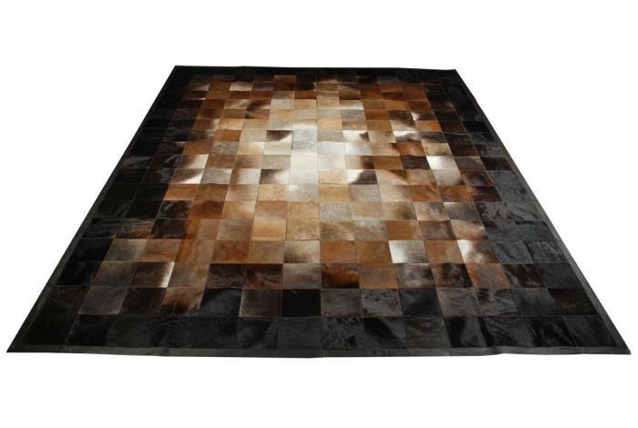 Grosshandel Beige Braun Und Schwarz Leder Teppich Teppich Quadrate