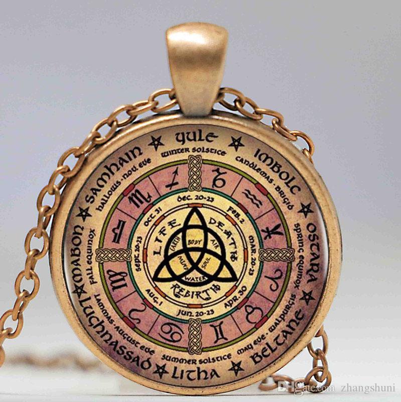 Magia Wiccan Pentagrama Logotipo Mulheres Gargantilha Declaração de Prata Pingente de Colar Para Os Homens Se Vestem Acessórios