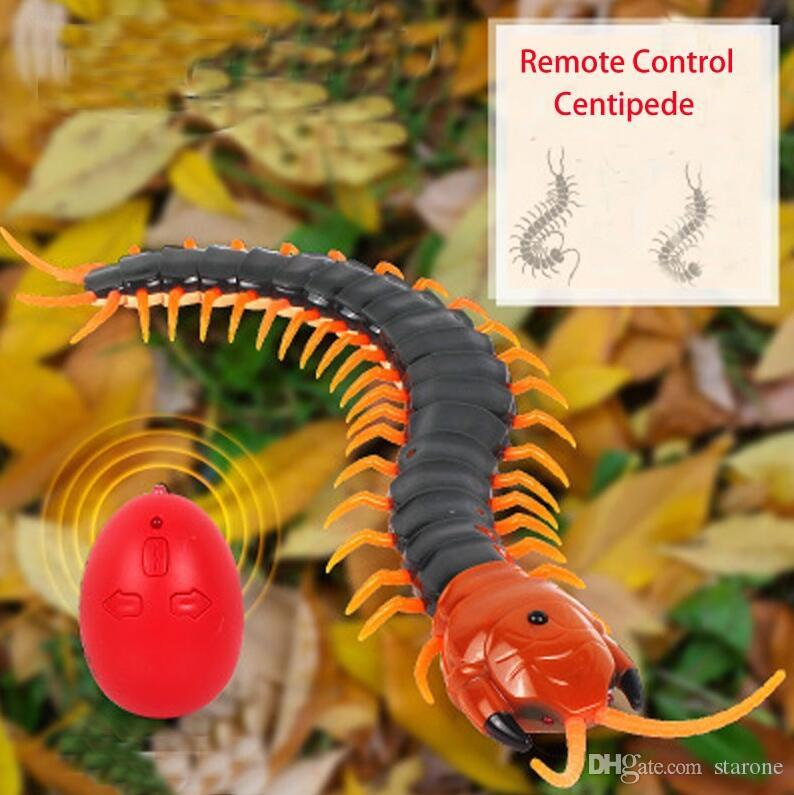 Wholesale Electric RC Centipede Fake Insect Remote Control Centipede Creative Electric Animal Prank Toys Tricky Funny Kids Gifts