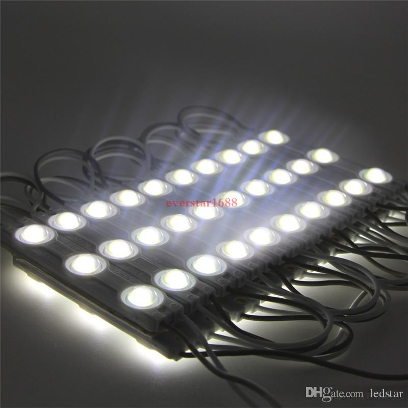 Moduli LED vetrina luce anteriore lampada 3 SMD 5630 Iniezione bianco ip68 Lampadina retroilluminazione a led 10 piedi = 20 pezzi