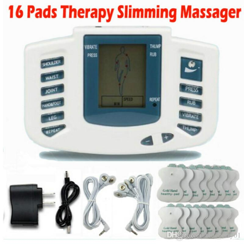 Electrical Stimulator Full Body Relax Muscle Therapy Massager Massage Pulse tens Acupuncture Health Care Machine 16 Pads
