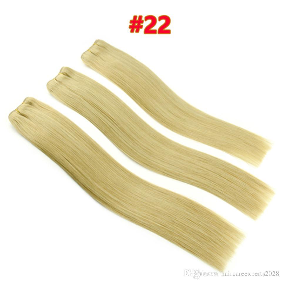 Freies Verschiffen 9A Reine Brasilianische Remy Haar Gerade 3 Stücke Menschenhaareinschlagfaden Extensions 100% Remy Brasilianische Haarwebart Bundles