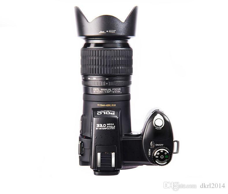 New 33MP D7300 Digital Camera HD Camcorder DSLR Camera Wide Angle Lens 24x Optical Telescope Lens D3300 Updated Version Free DHL