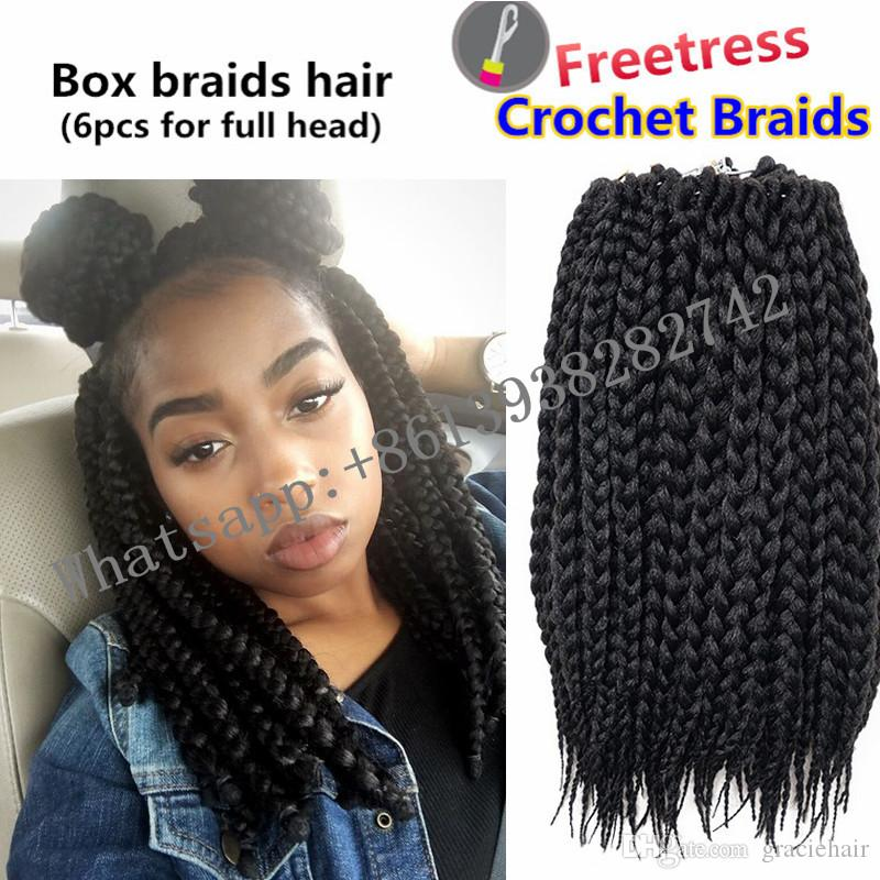 14inch Best Quality Box Braid Extensions Crotchet Braids Synthetic