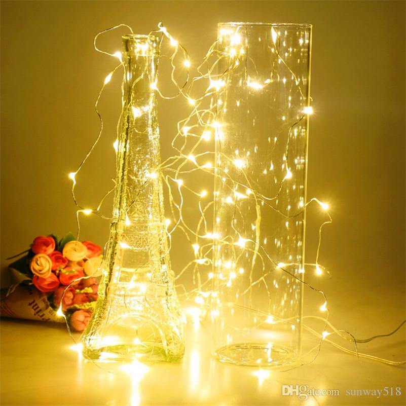3m 30leds aa battery operated led string mini led copper wire string fairy light christmas xmas home party decoration light warmpure white string led