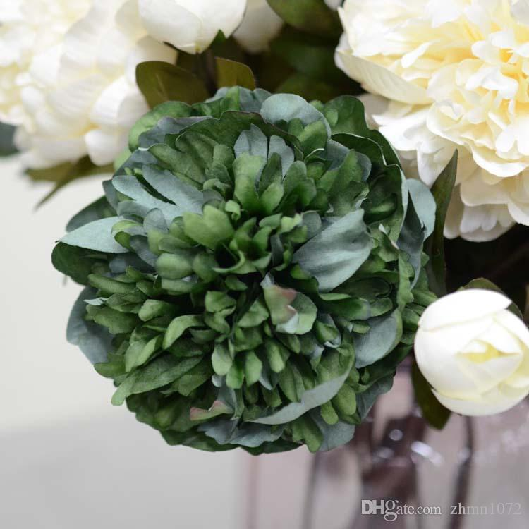 Court qianceng моделирование цветок пион классический цвет искусственный цветок Old Fashion Paeonia suffruticosa