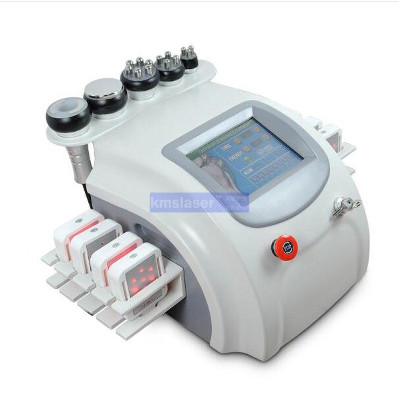 새로운 도착 ! 휴대용 초음파 40k cavitation RF 진공 레이저 lipo 바디 형성 피부 회 춘 림프 배수 기계