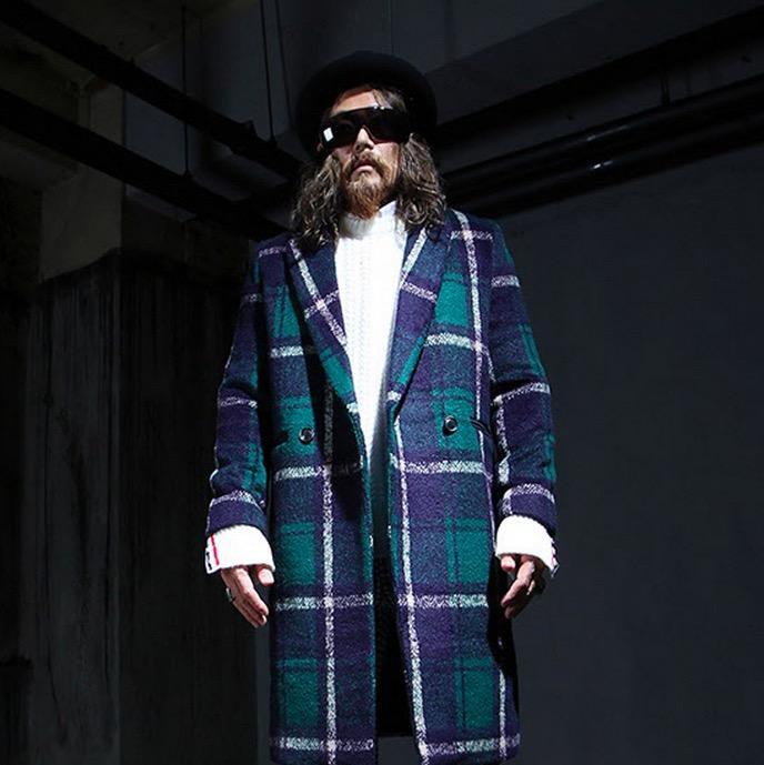 Fresh 2018 Wholesale Harajuku Gothic Green Plaid Winter Jacket Long Coat  MK63