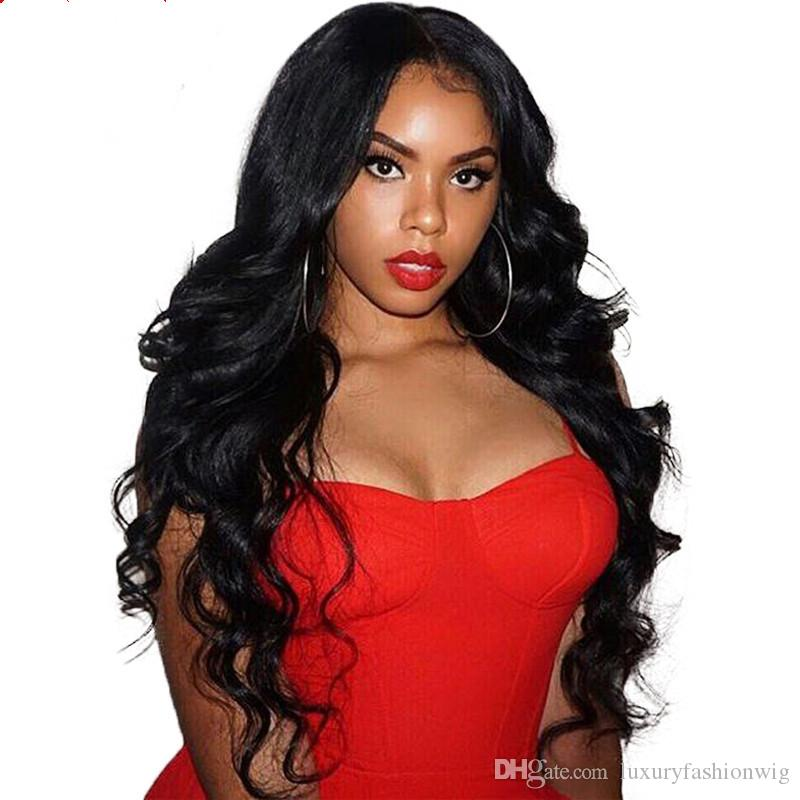 Full Lace Human Hair Wigs Higher Glueless Silk Virgin Brazilian Hhair 100% Wigs of 5.5 * 5.5 Lace Knitting A Wig And All Women To Black