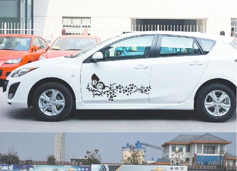 Butterfly Flower Car Stickers Online Butterfly Flower Car