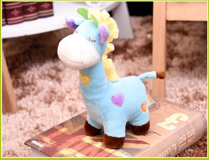 Cute dibujos animados de peluche felpa jirafa juguetes niños niños jirafa juguete creativo pensativo regalo bebé relleno animal juguetes regalos