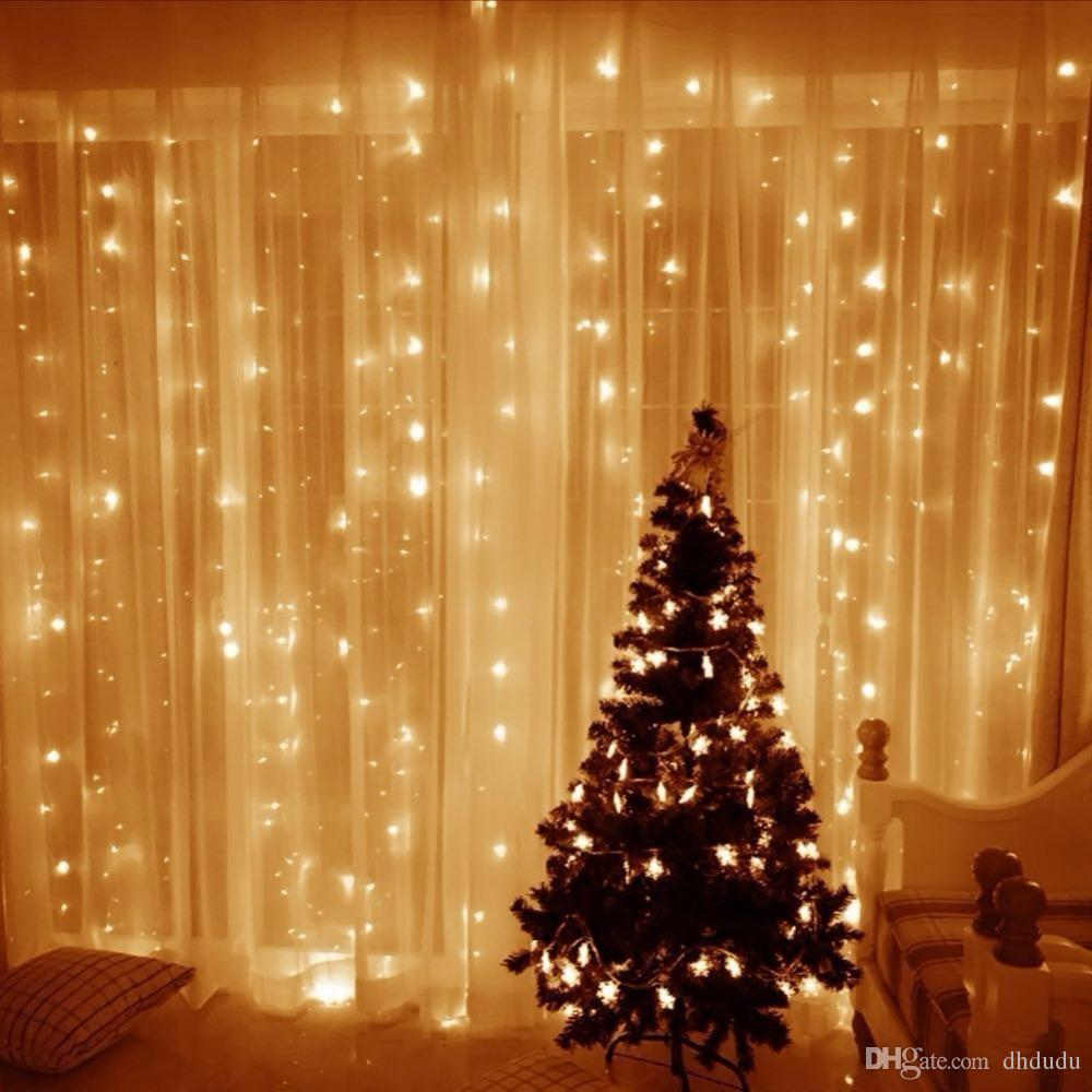 2018 9.8ftx9.8ft 300 Led Curtain Lights String Christmas Wedding ...