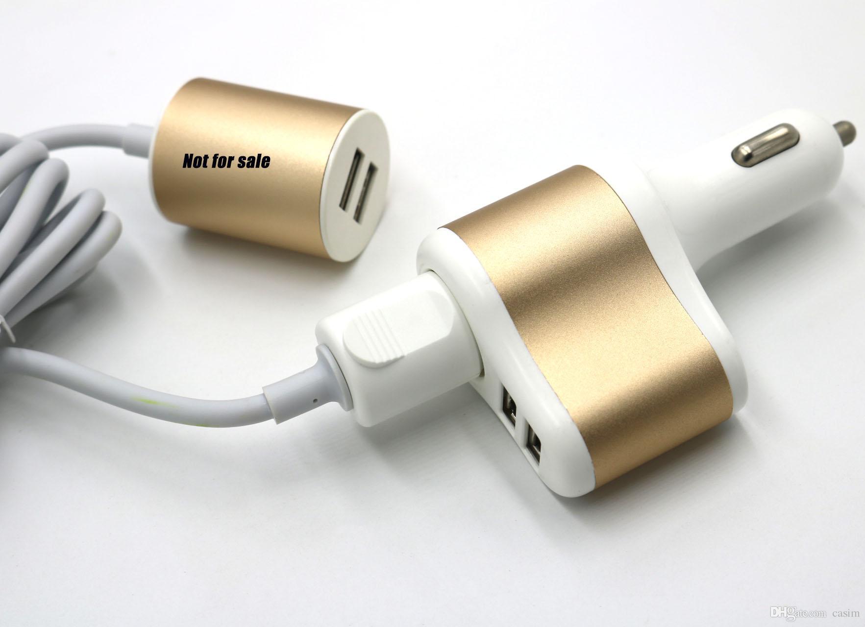 Yeni 3 in 1 Araç Şarj 2 USB Portu 1 Araç Şarj Portu 3.1A Çıkış Çift Usb Araba Hızlı Şarj Adaptörü