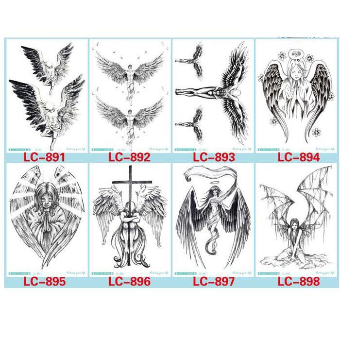 Acheter Le Tatouage Provisoire De Ailes De Plume Fraiche De