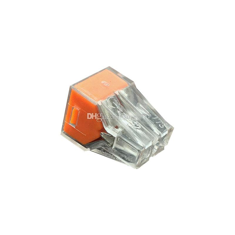 773-T-104 Quick Wire Connector 4 pin Cable Terminal Block Connector 400V 18-12AWG Push in wire orange