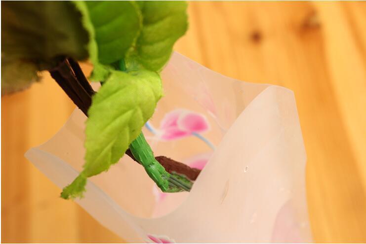 Floreros irrompibles plegables reutilizables decoraciones de fiesta florero de plástico florero creativo plegable mágico florero de PVC 12 cm * 27 cm mezcla de colores decoración del hogar