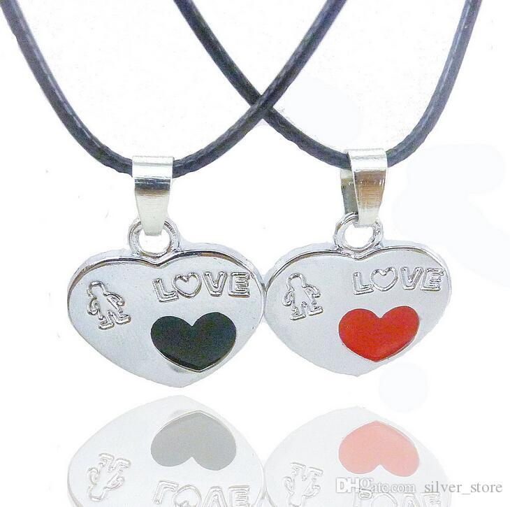 Brand new Valentine 's Day gift key lock couple necklace student couple jewelry WFN037 with chain 20 =