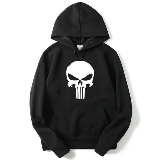 dba2f8569ca12 American Fashion 2017 Hoodies Men Movie Punisher Brand Male Hoodie ...
