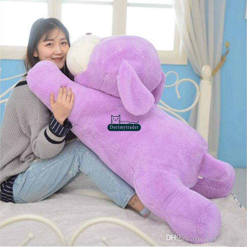 Dorimytrader cuddly soft cartoon dog plush toy big stuffed anime dogs anime pillow Christmas gift 47inch 120cm DY61838