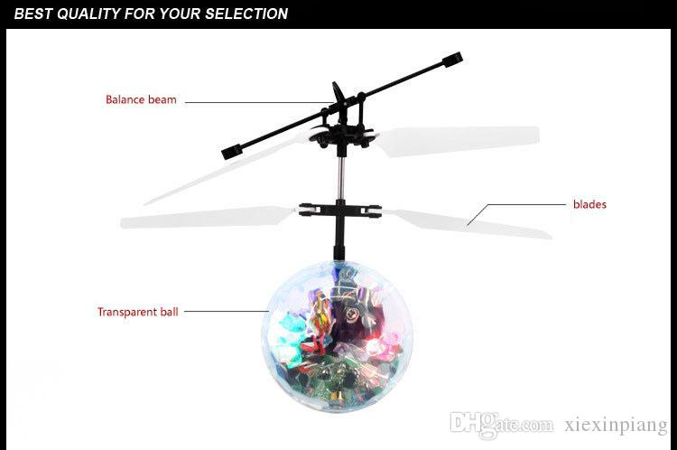 Air RC Flying Ball crystal Drone Helicopter Ball mini Aircraft Flying light toys Led Flashing Light Up Toys Induction Electric Toy For Kids